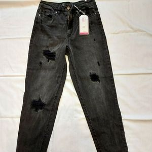 NWT NoBo No Boundaries Womens Black High Rise Stretch Jeans, Size 11